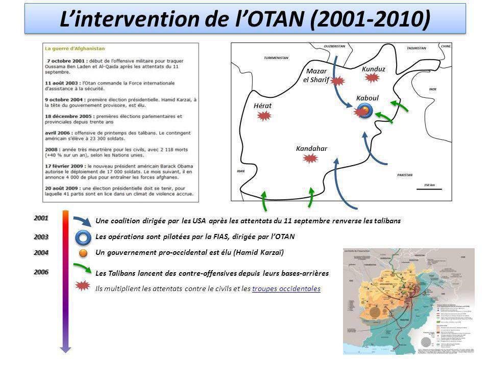 L'intervention de l'OTAN (2001-2010)