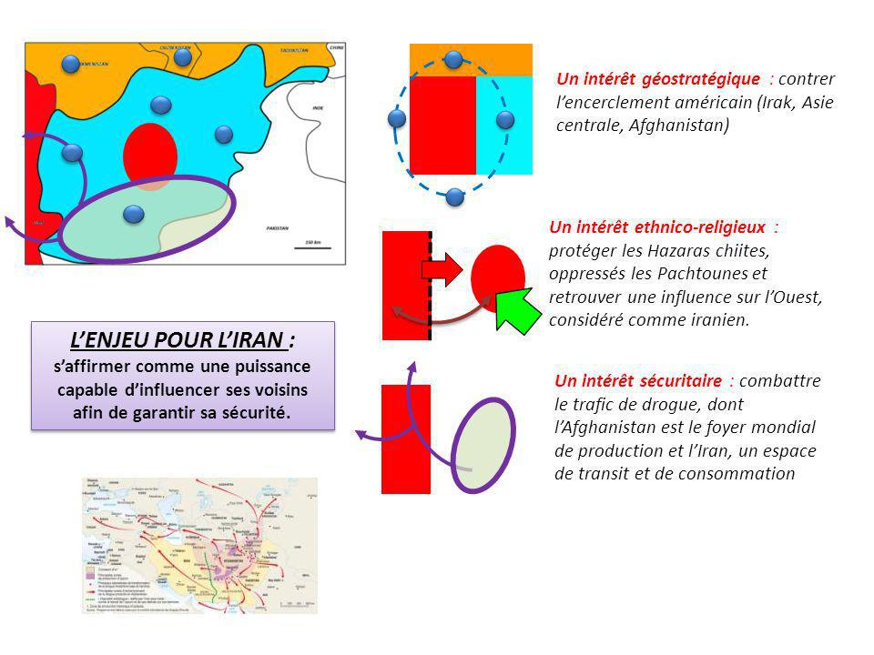 Un intérêt géostratégique : contrer l'encerclement américain (Irak, Asie centrale, Afghanistan)