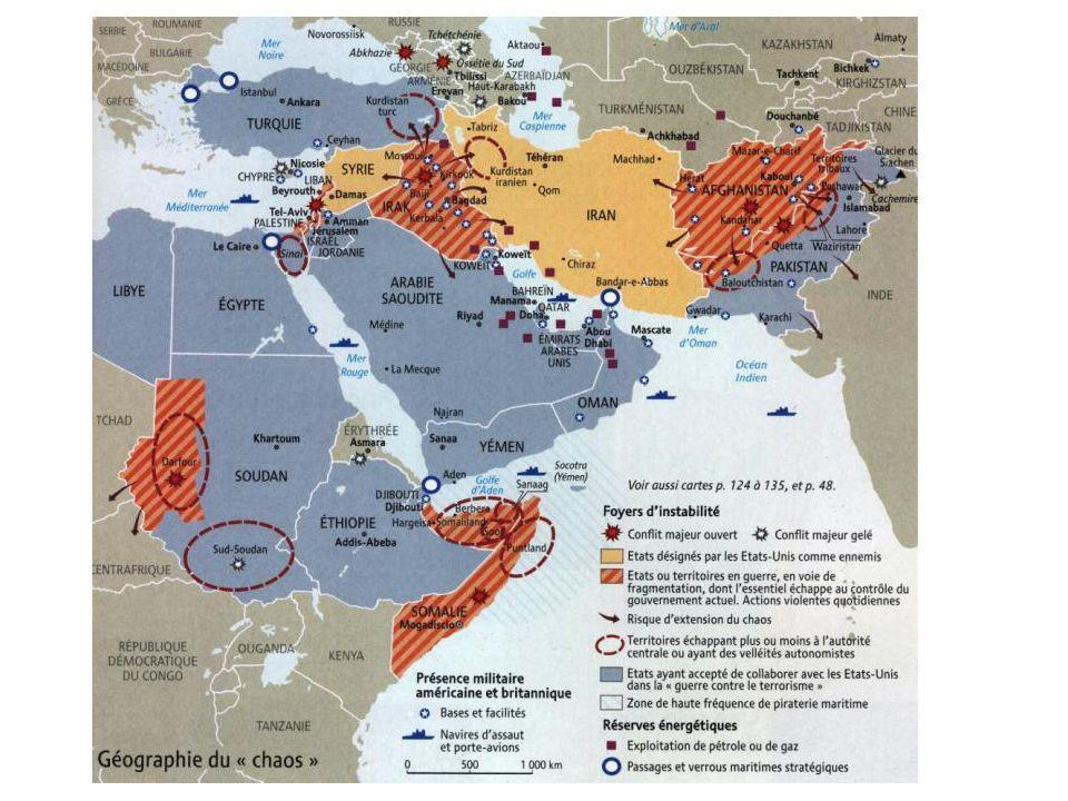 MOYEN ORIENT DESTABILISE – nombreuses interventions ONU ou pas / ressources / montée fondamentalisme / crise sociale / effets crise éco.