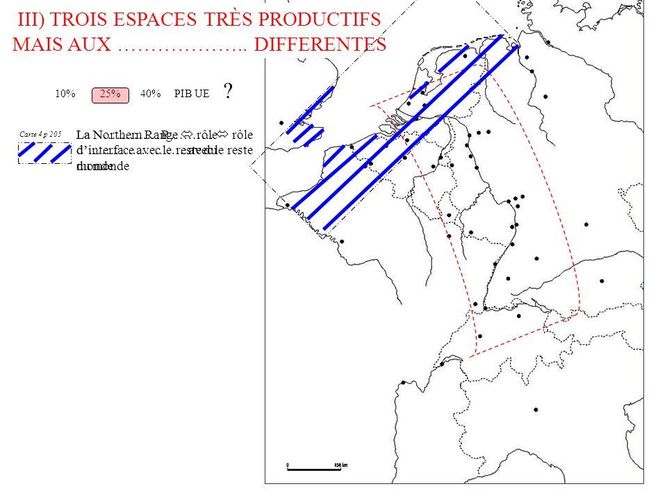 III) TROIS ESPACES TRÈS PRODUCTIFS MAIS AUX ……………….. DIFFERENTES