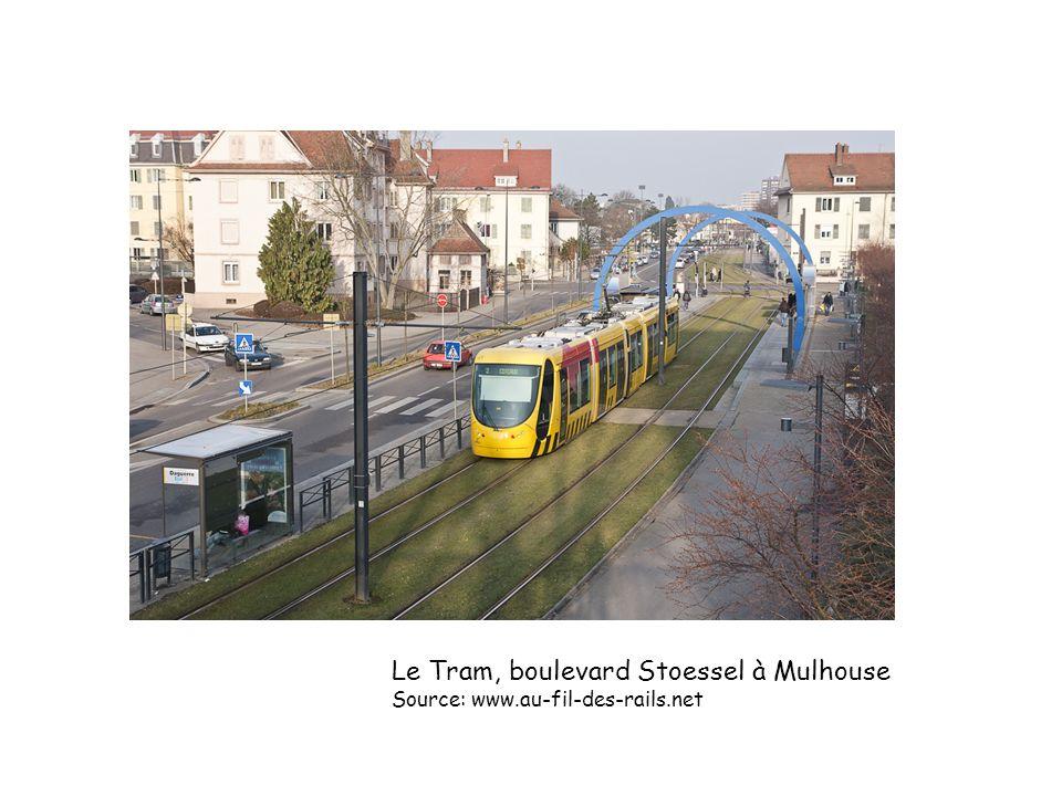 Le Tram, boulevard Stoessel à Mulhouse