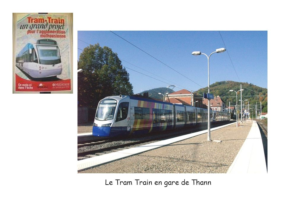 Le Tram Train en gare de Thann