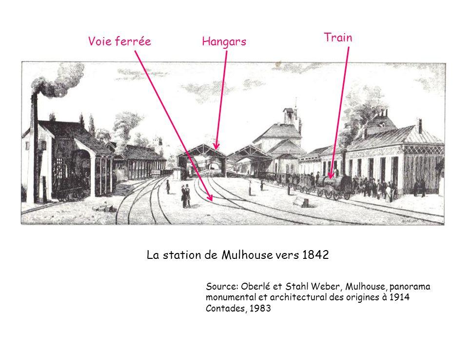 La station de Mulhouse vers 1842