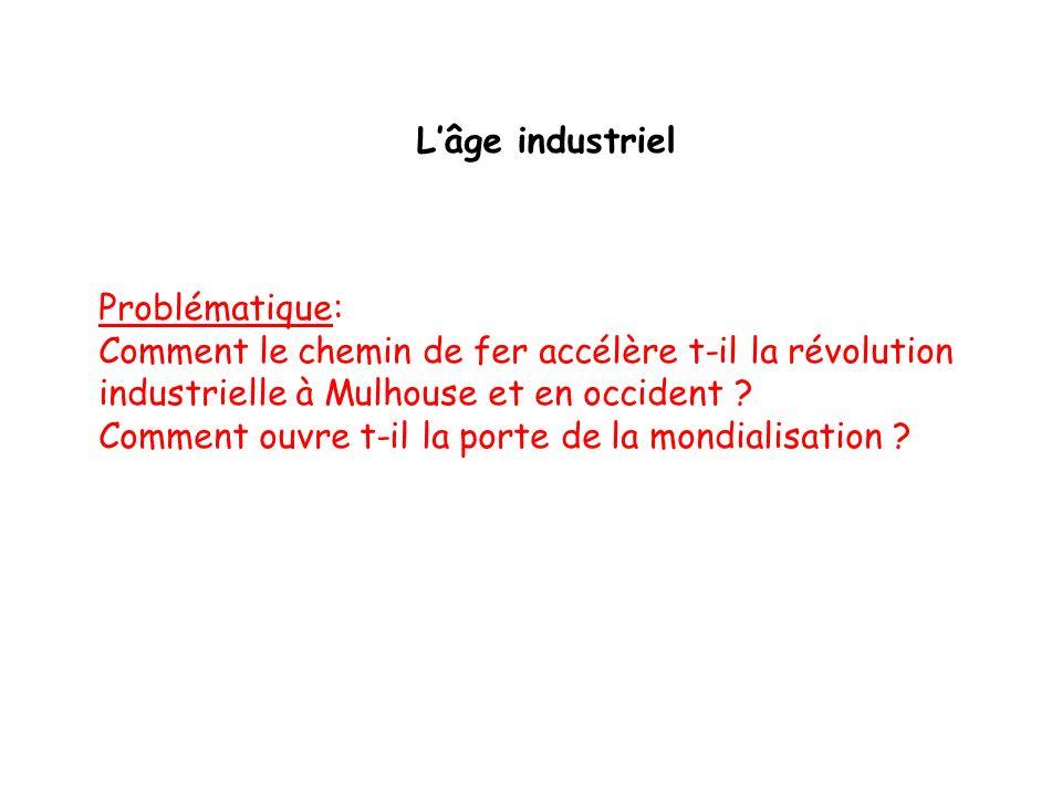 L'âge industriel Problématique: Comment le chemin de fer accélère t-il la révolution industrielle à Mulhouse et en occident