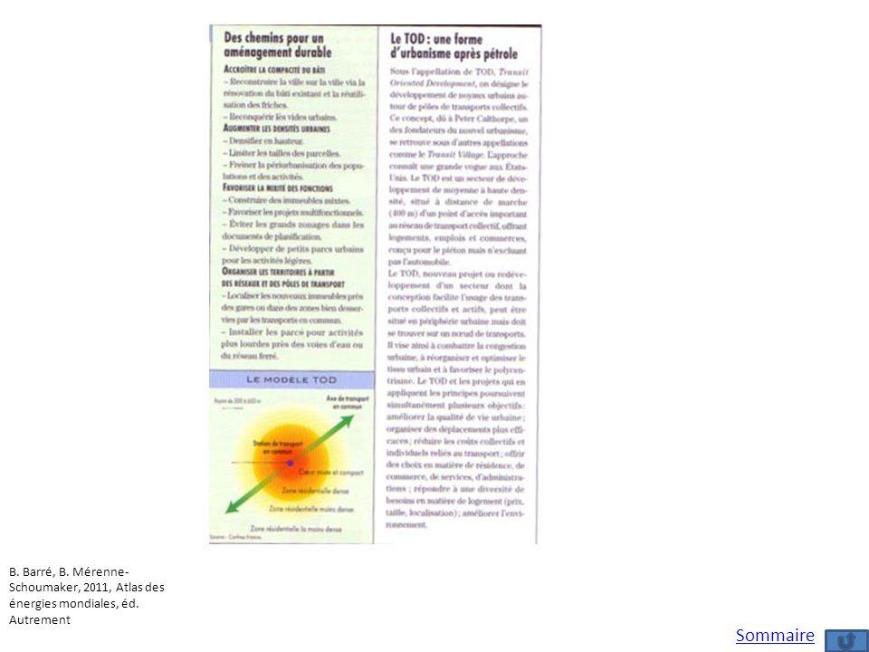 B. Barré, B. Mérenne-Schoumaker, 2011, Atlas des énergies mondiales, éd. Autrement
