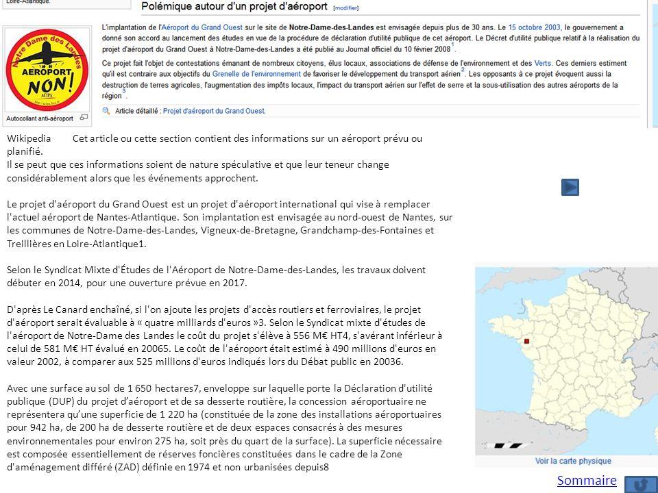Wikipedia Cet article ou cette section contient des informations sur un aéroport prévu ou planifié.