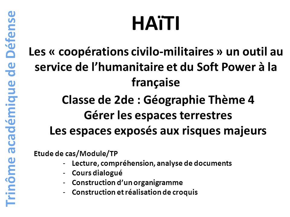 HAïTI Trinôme académique de Défense