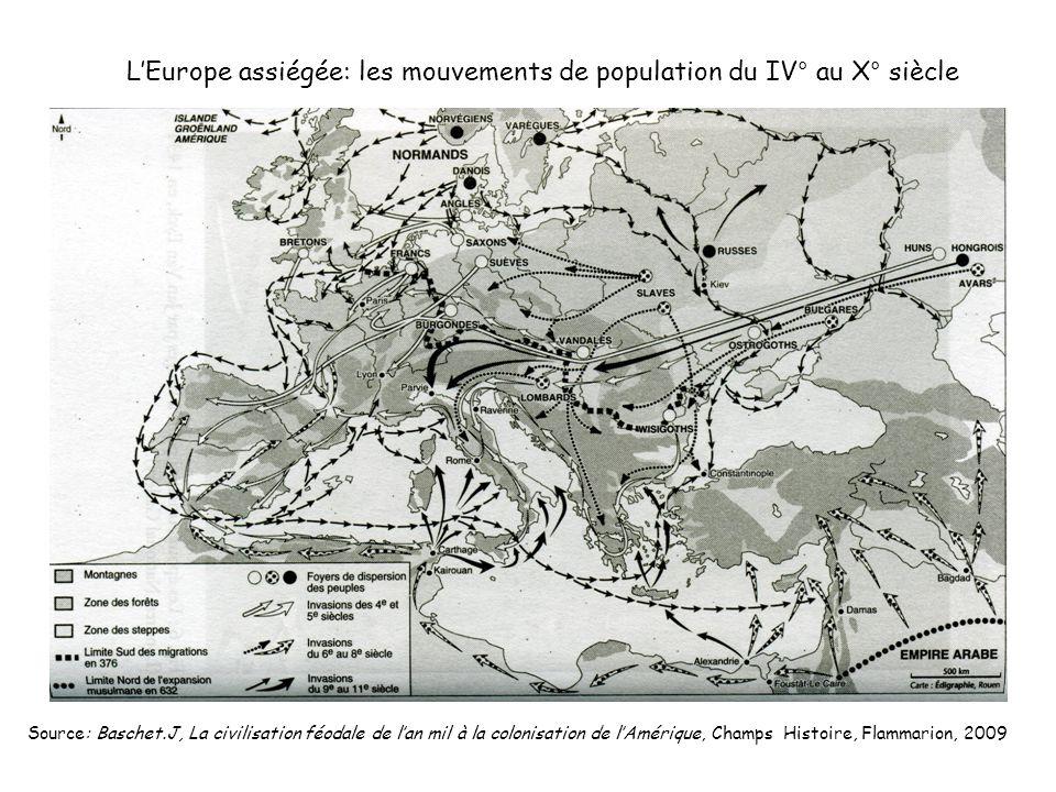 L'Europe assiégée: les mouvements de population du IV° au X° siècle