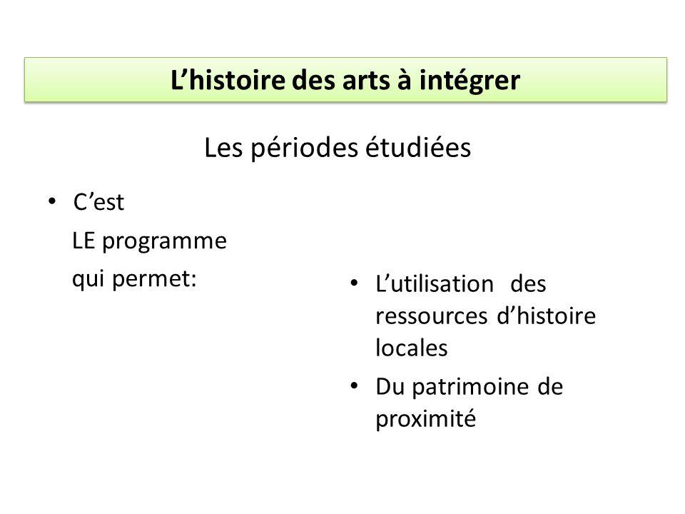 L'histoire des arts à intégrer