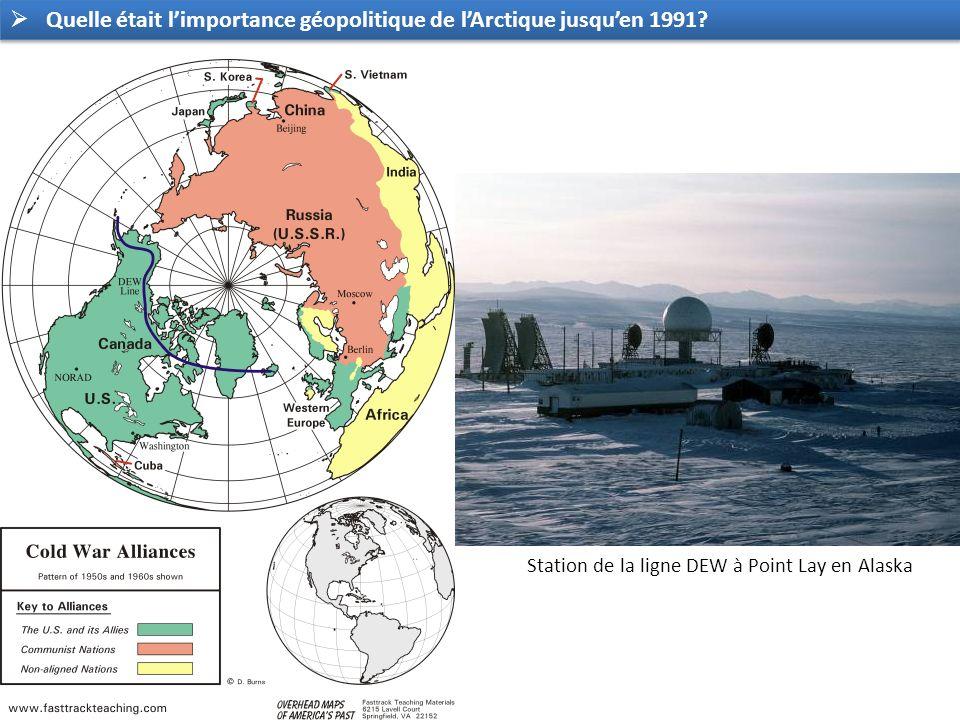 Quelle était l'importance géopolitique de l'Arctique jusqu'en 1991