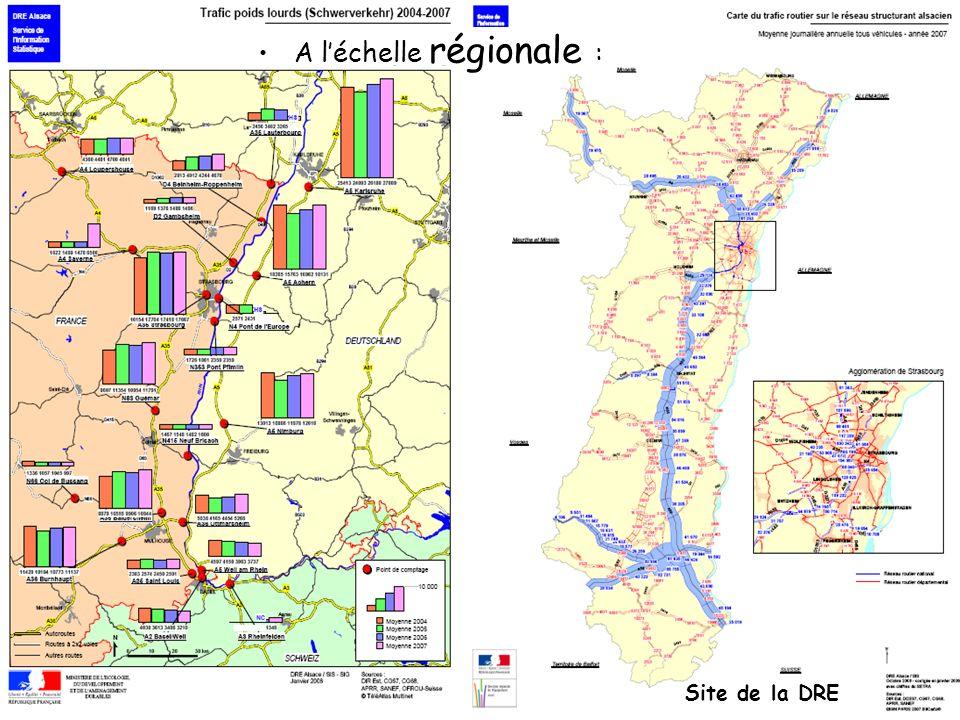 A l'échelle régionale :