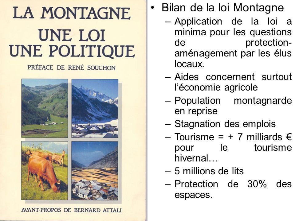 Bilan de la loi Montagne