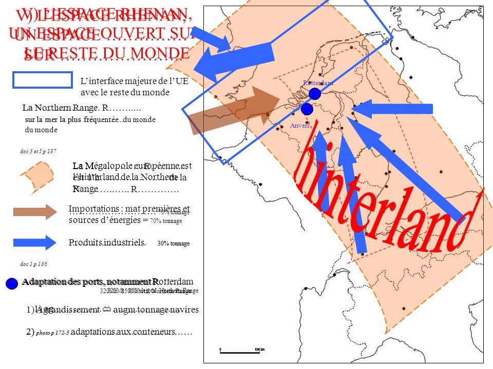 hinterland V) L'ESPACE RHENAN, V) L'ESPACE RHENAN,