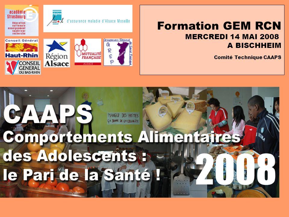2008 Formation GEM RCN MERCREDI 14 MAI 2008 A BISCHHEIM