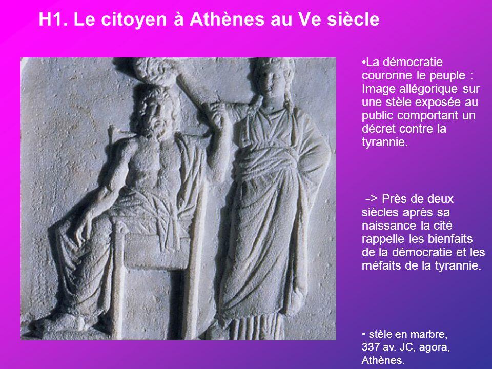 H1. Le citoyen à Athènes au Ve siècle