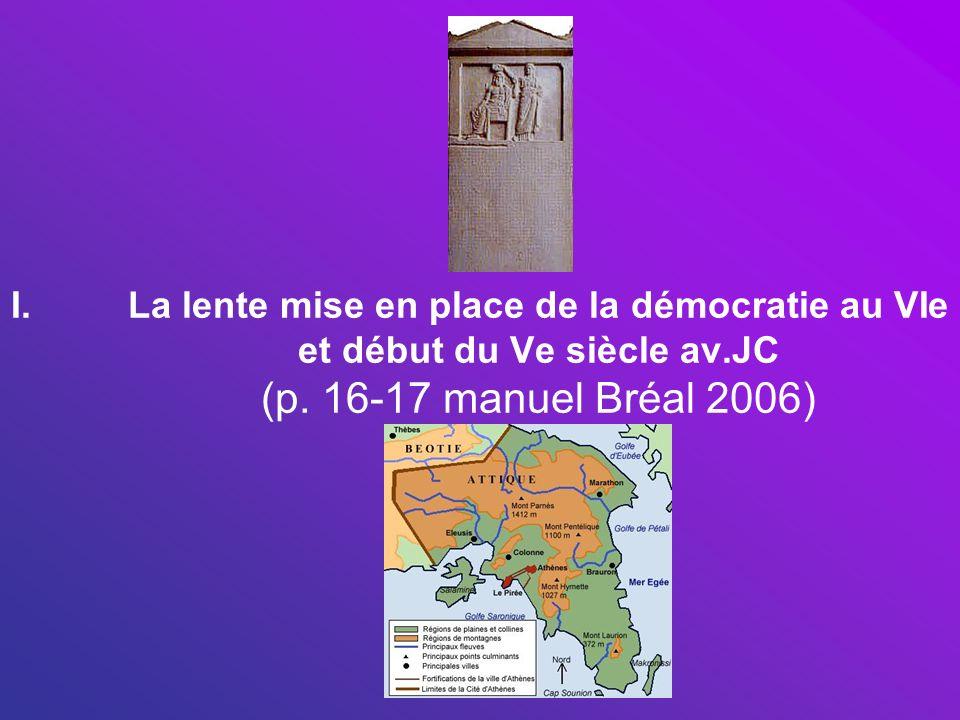 La lente mise en place de la démocratie au VIe et début du Ve siècle av.JC (p.