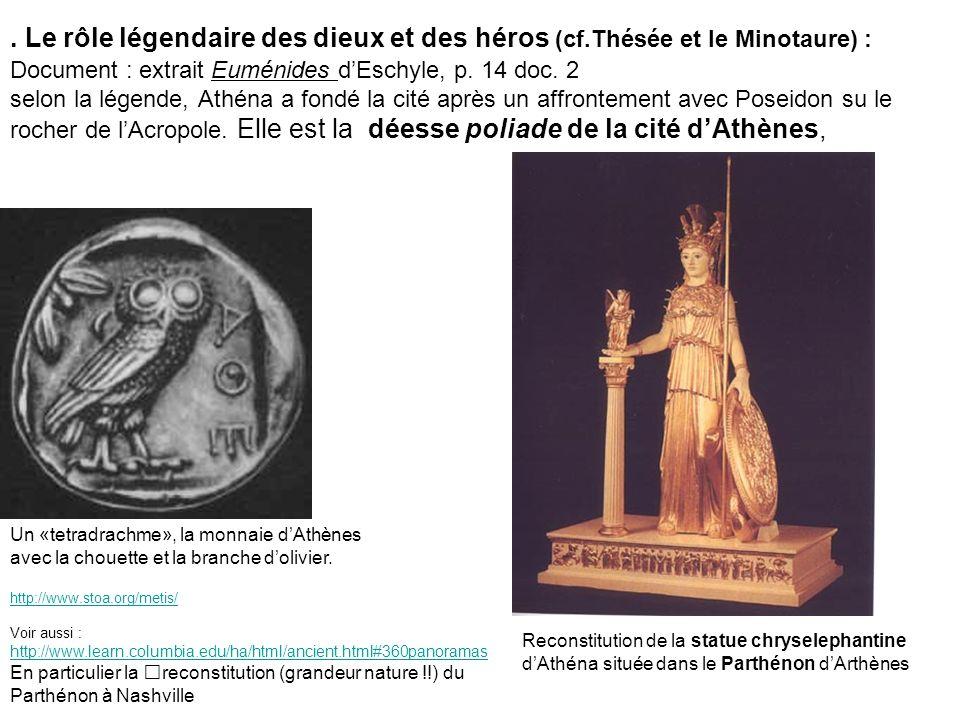 Le rôle légendaire des dieux et des héros (cf