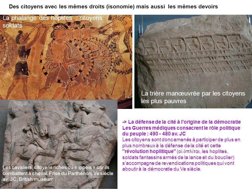 La phalange des hoplites : citoyens soldats