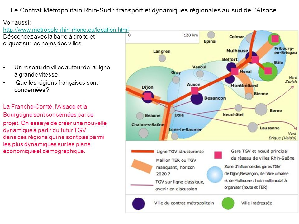 Le Contrat Métropolitain Rhin-Sud : transport et dynamiques régionales au sud de l'Alsace