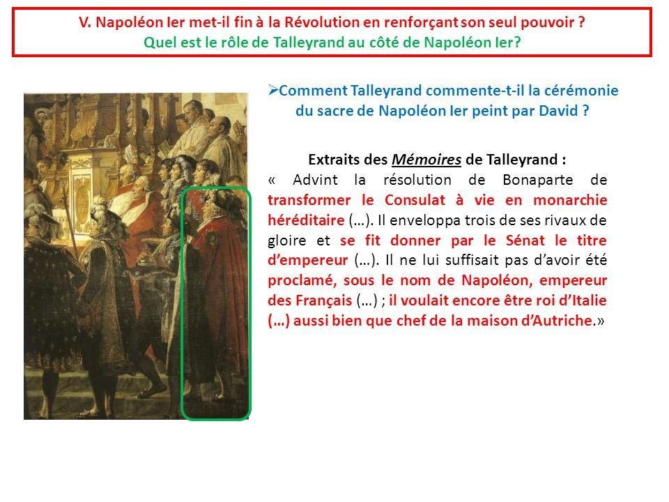 Quel est le rôle de Talleyrand au côté de Napoléon Ier