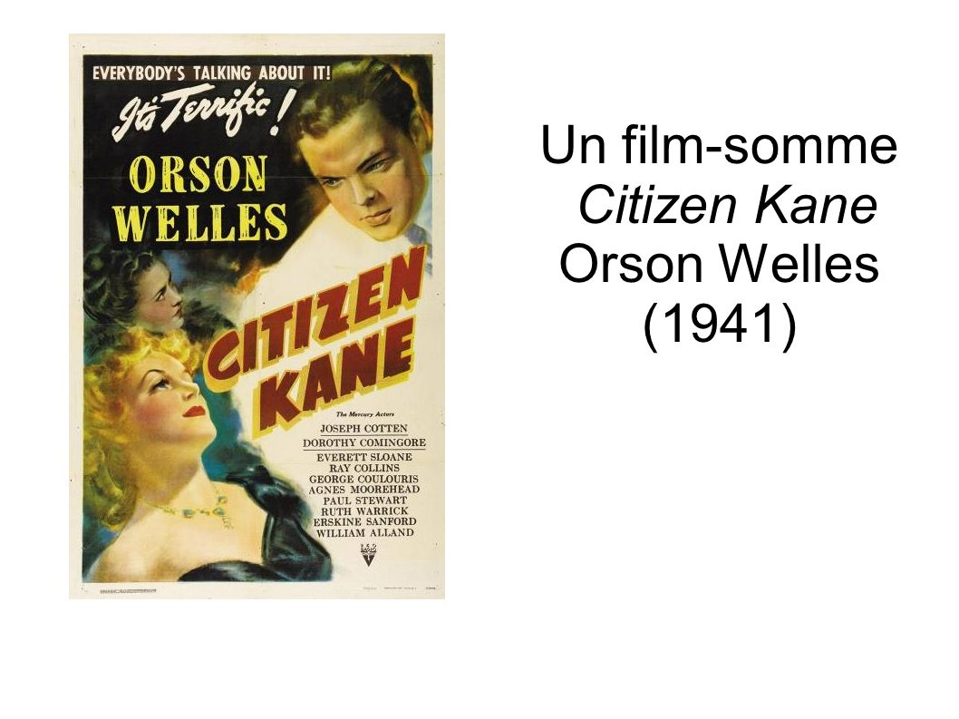 Un film-somme Citizen Kane Orson Welles (1941)