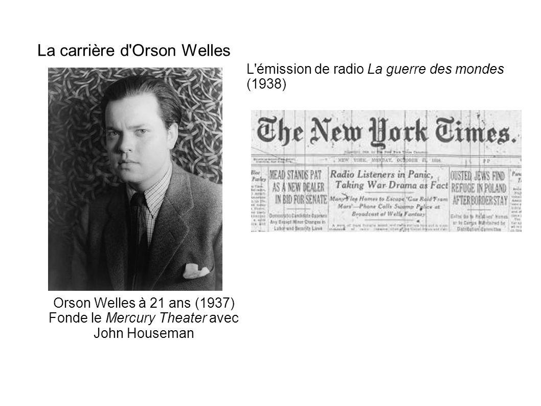 La carrière d Orson Welles