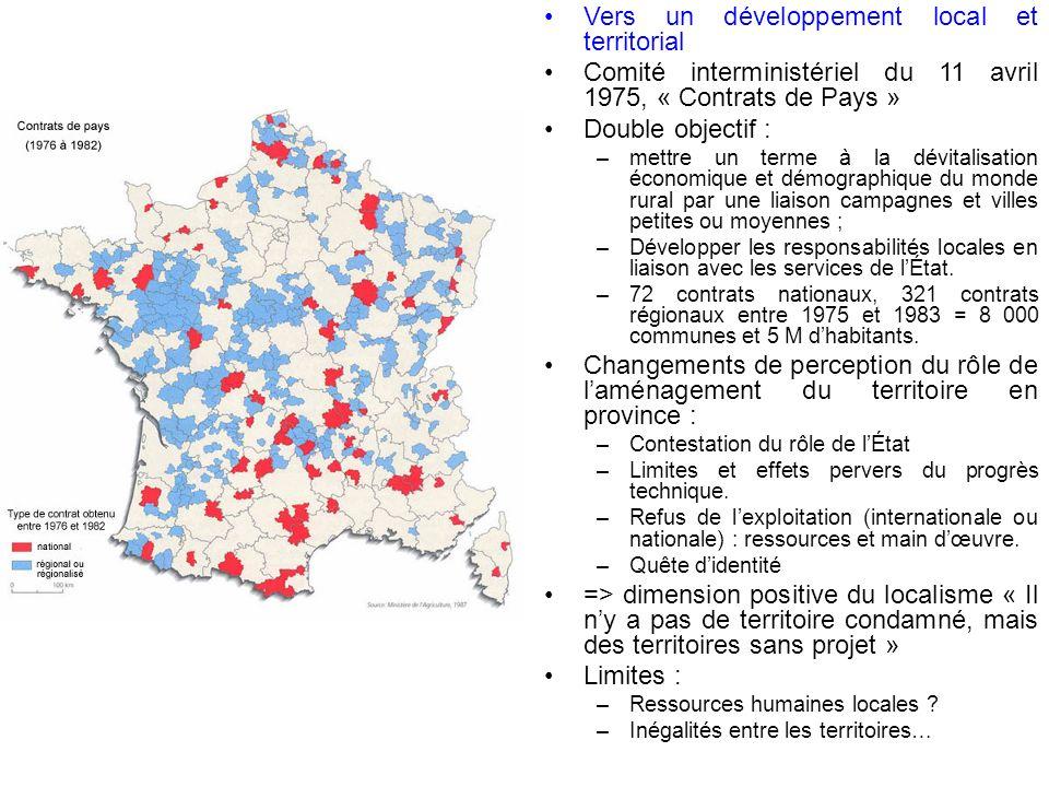 Vers un développement local et territorial