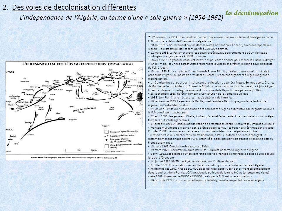 2. Des voies de décolonisation différentes