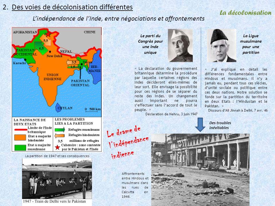 Le drame de l'indépendance indienne
