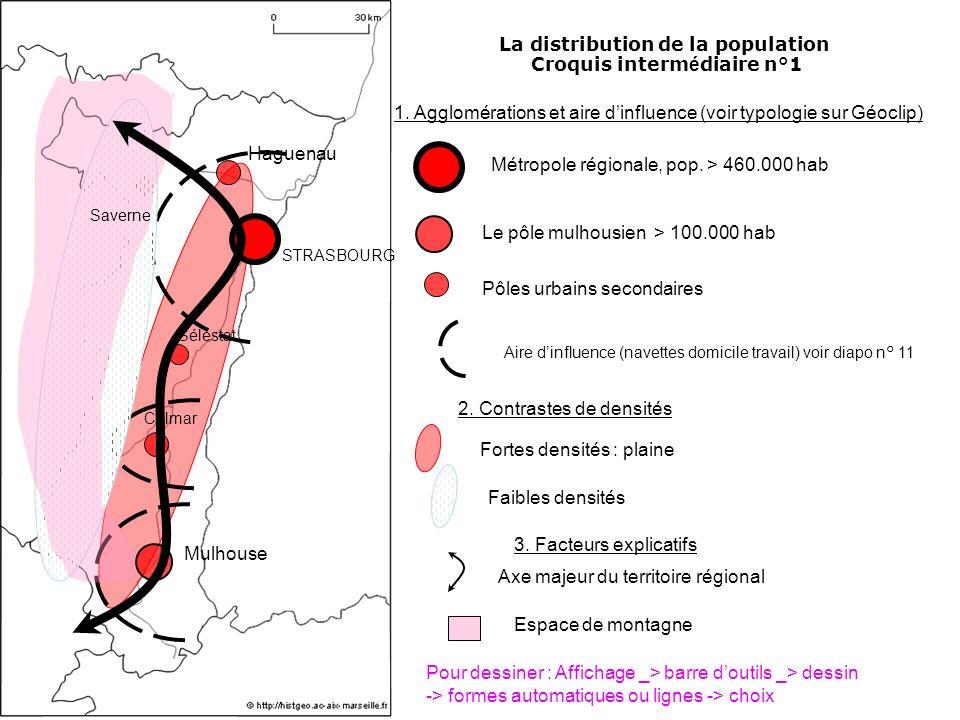 La distribution de la population Croquis intermédiaire n°1