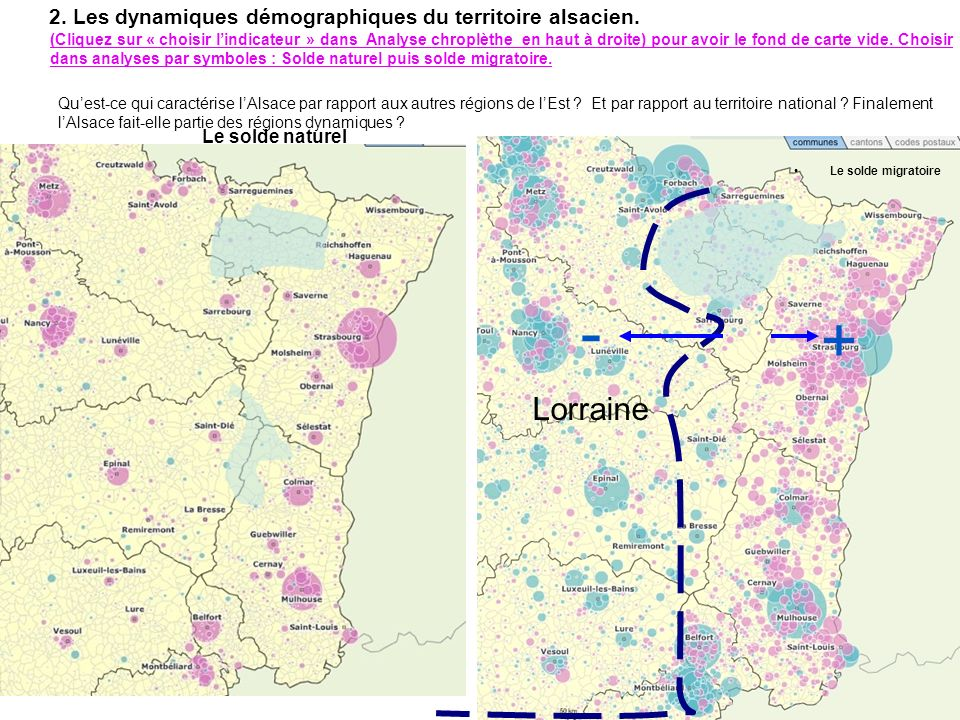 2. Les dynamiques démographiques du territoire alsacien.