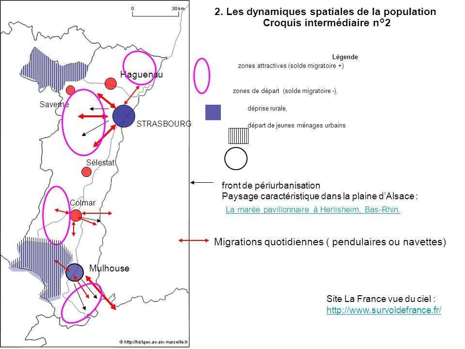 2. Les dynamiques spatiales de la population Croquis intermédiaire n°2