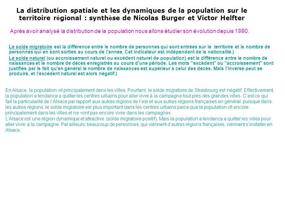 La distribution spatiale et les dynamiques de la population sur le territoire régional : synthèse de Nicolas Burger et Victor Helfter