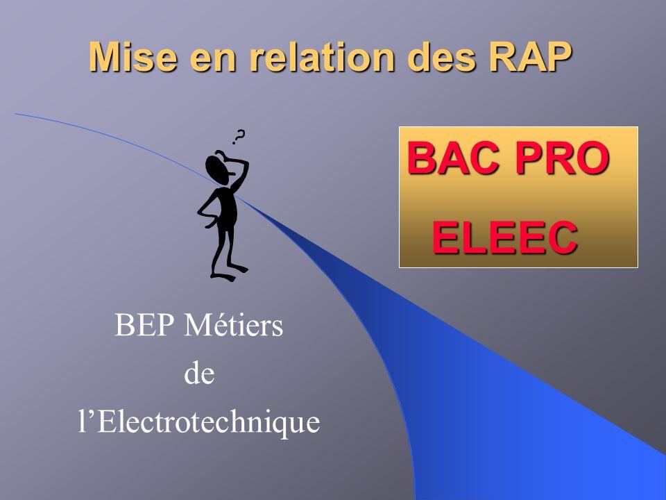 Mise en relation des RAP