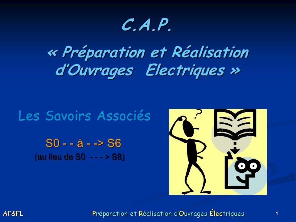« Préparation et Réalisation d'Ouvrages Electriques »