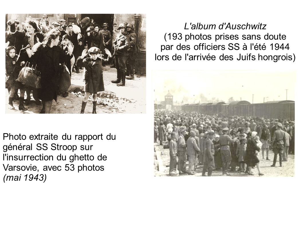 (193 photos prises sans doute par des officiers SS à l été 1944
