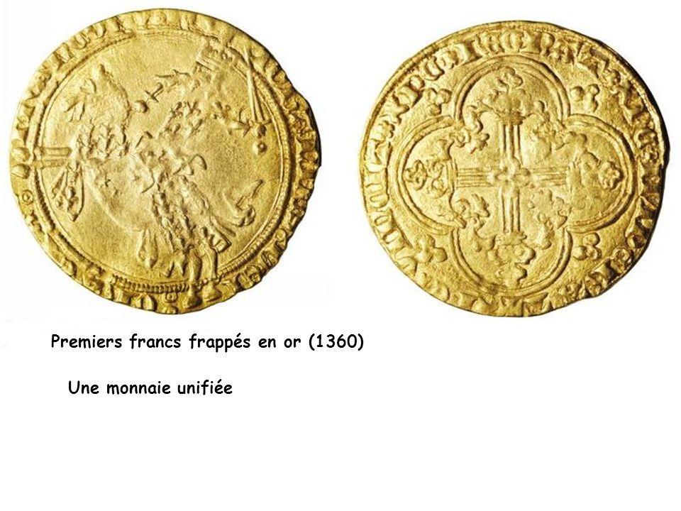 Premiers francs frappés en or (1360)