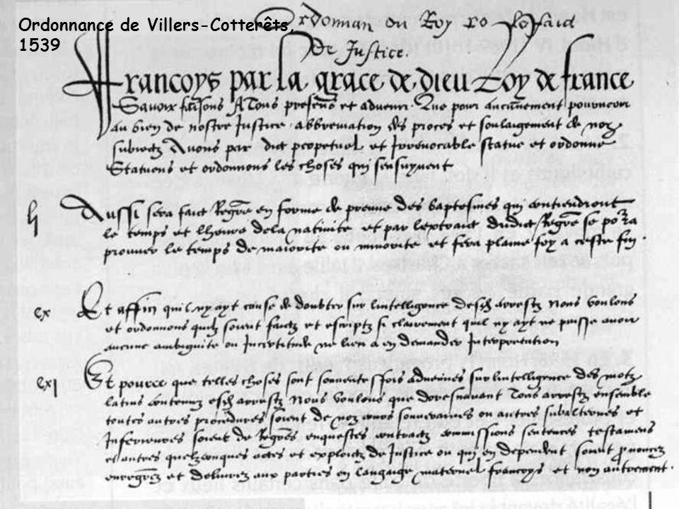 Ordonnance de Villers-Cotterêts,