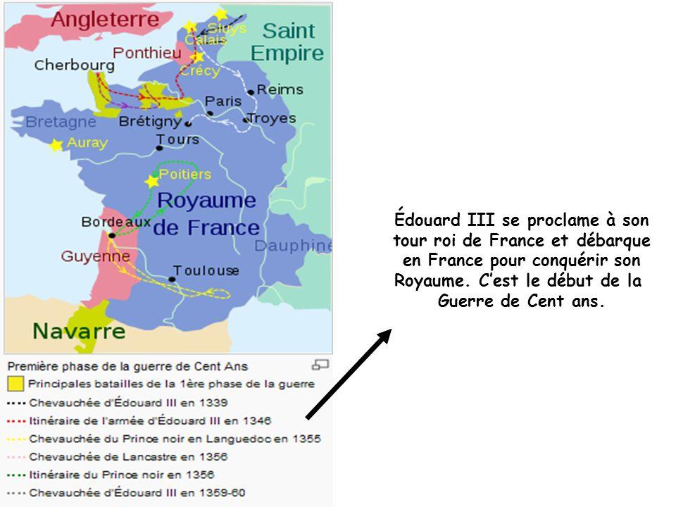 Édouard III se proclame à son tour roi de France et débarque