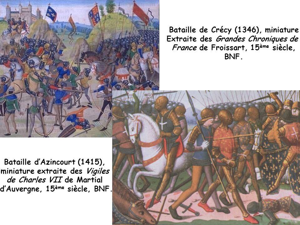 Bataille de Crécy (1346), miniature Extraite des Grandes Chroniques de