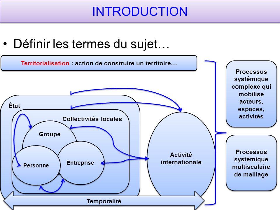 Territorialisation : action de construire un territoire…