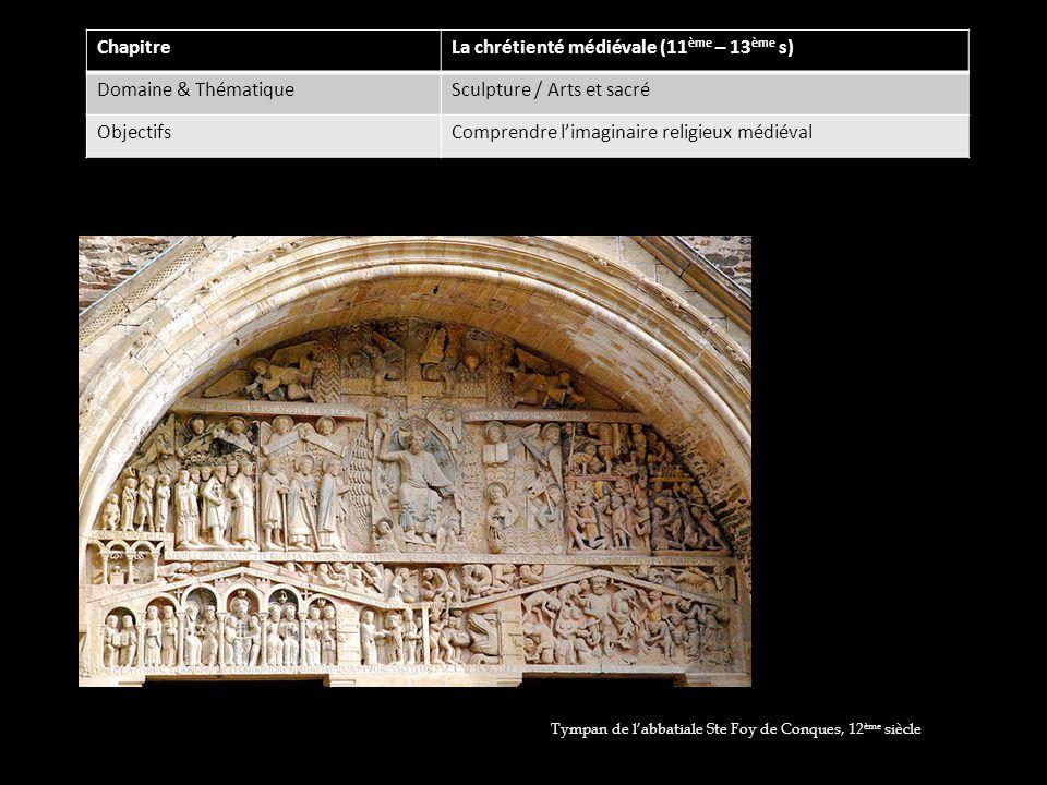 La chrétienté médiévale (11ème – 13ème s) Domaine & Thématique