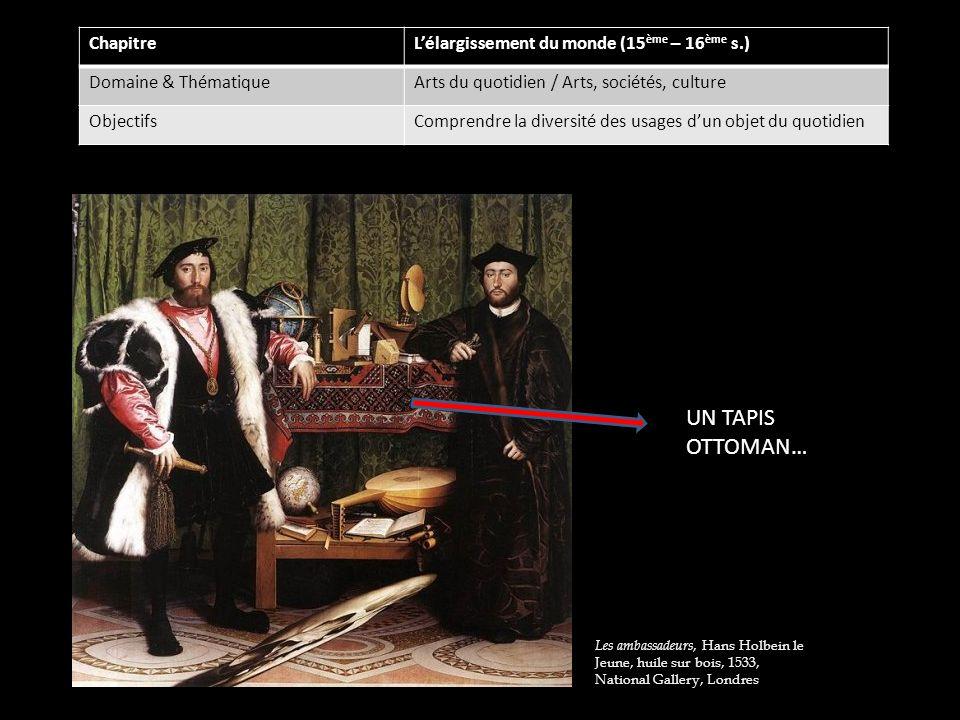 UN TAPIS OTTOMAN… Chapitre L'élargissement du monde (15ème – 16ème s.)