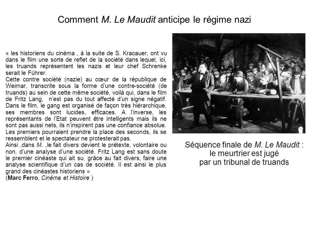 Comment M. Le Maudit anticipe le régime nazi