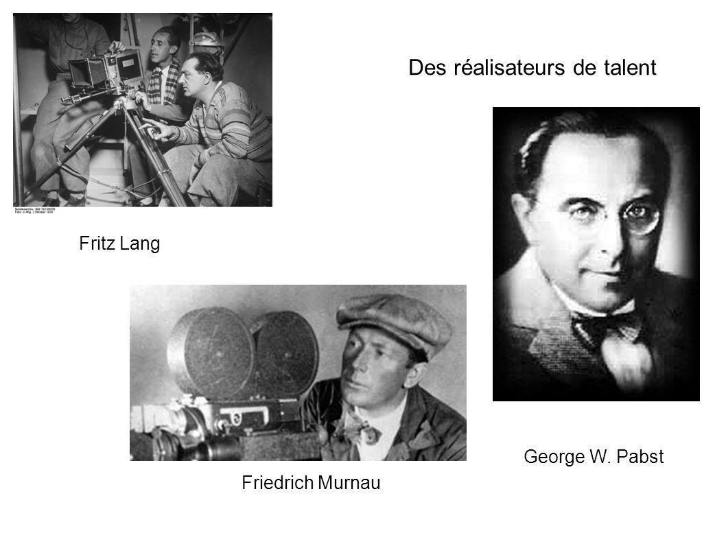 Des réalisateurs de talent