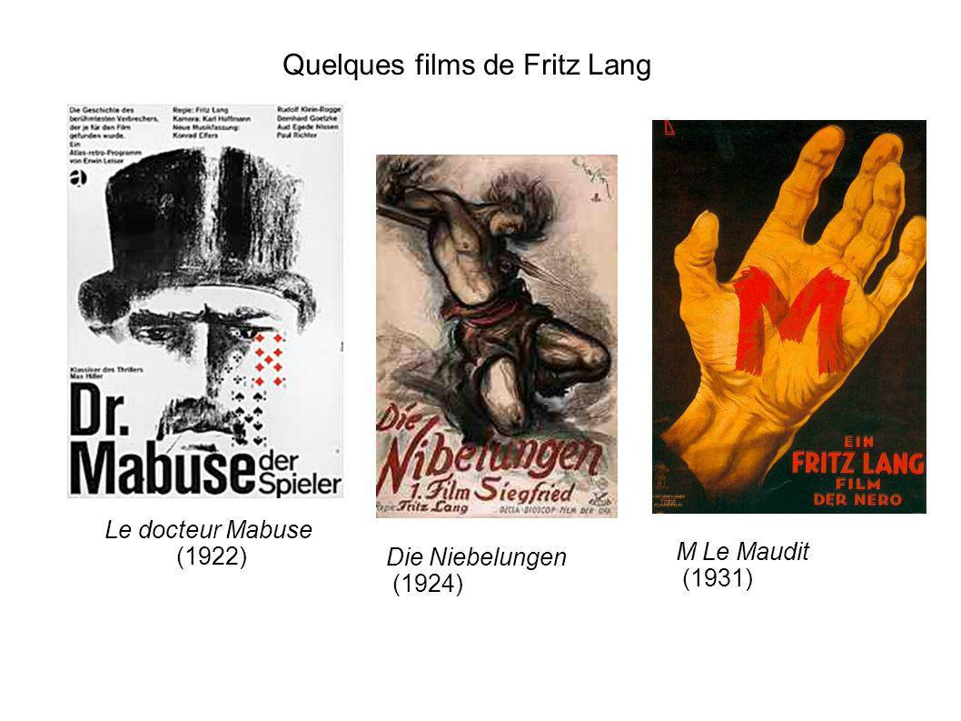 Quelques films de Fritz Lang