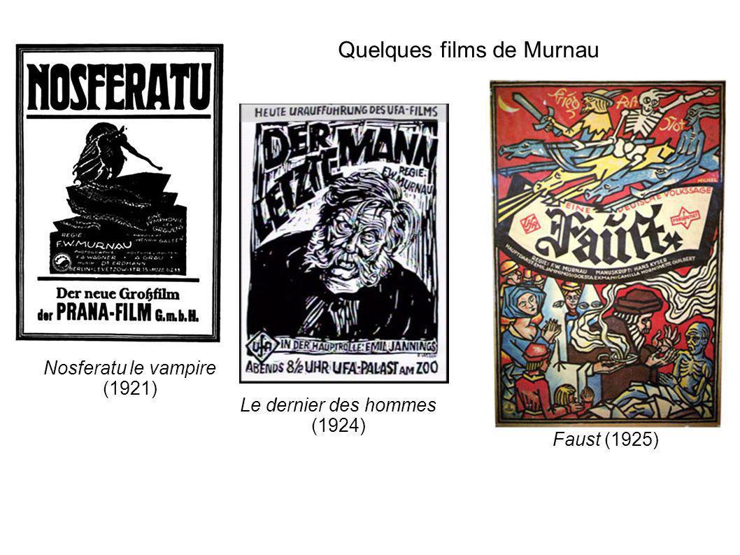 Quelques films de Murnau