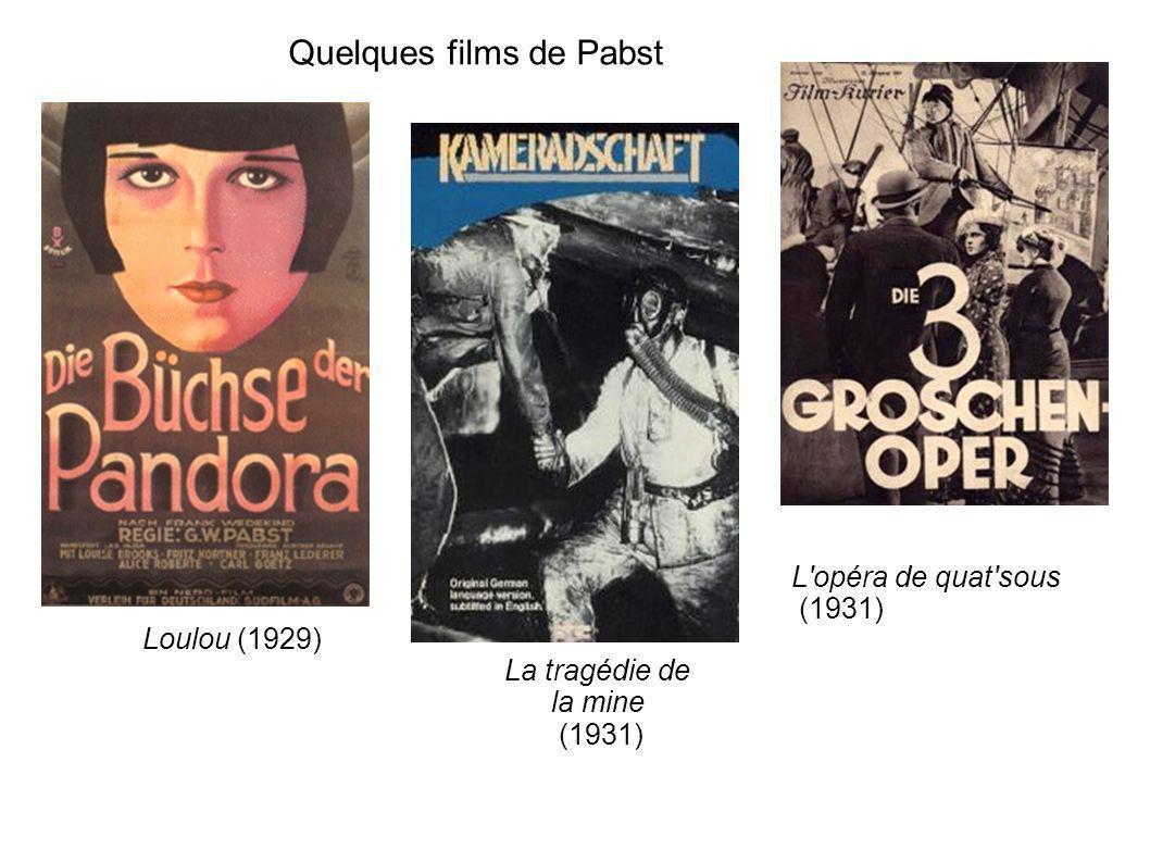 Quelques films de Pabst