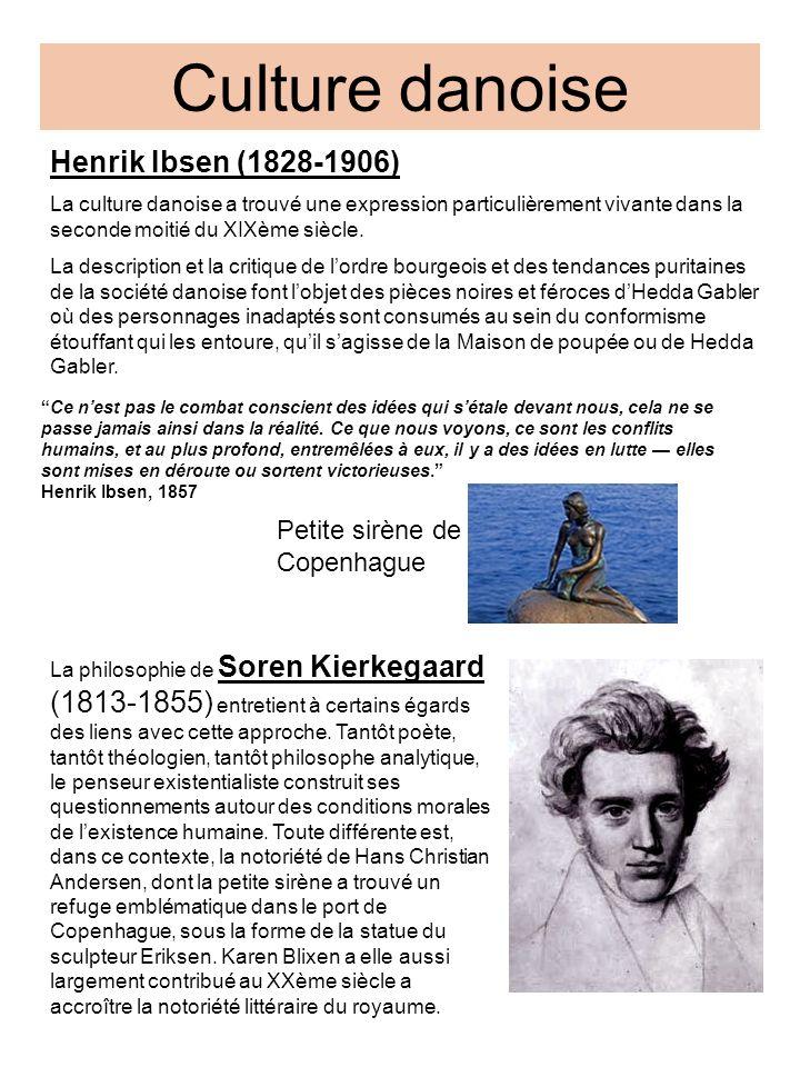 Culture danoise Henrik Ibsen (1828-1906) Petite sirène de Copenhague
