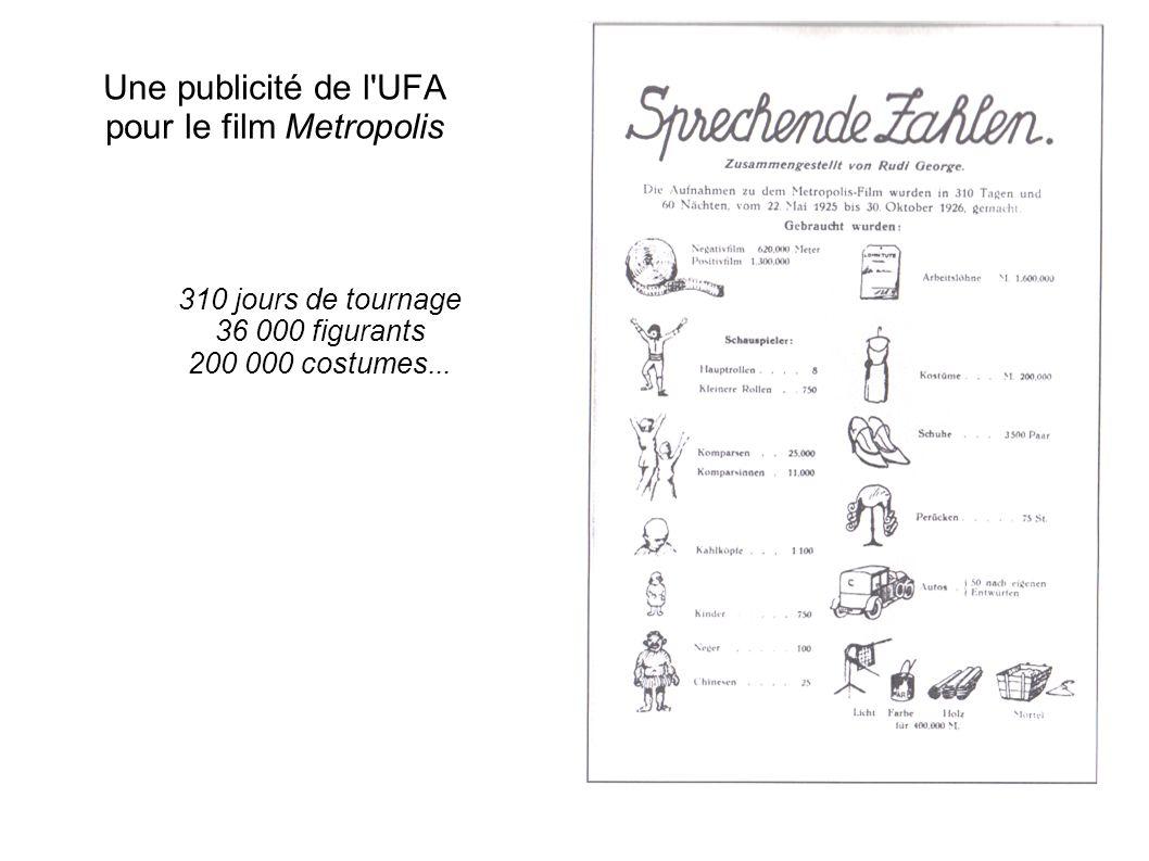 Une publicité de l UFA pour le film Metropolis